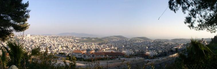 Overlooking Nazareth from Gabriel Hotel